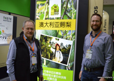 John Tyas and Andrew Serra of Avocados Australia. Australia is hopeful to receive market access to China in the near future.