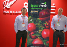 Jacky Qin of PCNZ together with Greg Cassidy of FreshMax, both from New Zealand. FreshMax launched its Picaboo pear last year and is in Beijing to support the sector, whilst awaiting a new crop. The New Zealand new pear season starts next year early February, just before the Chinese New Year.