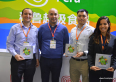 The Chinese and international team of Camposol. From left to right: Louis Miguel Baanante Cerdena, General Manager at Camposol in China, Sergio Torres, Deputy CEO of Camposol in the Netherlands, Ralph Zhou and Mariel Renteria.