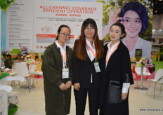The marketing team of Joy Wing Mau with Rachel, Serena and Ran Jingyi.