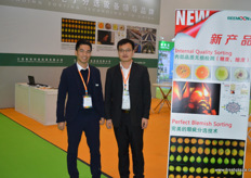 Jason Lai and Chen Shao Hua of Reemon Technology Holdings. Reemoon is a Chinese producer of sorting equipment, with an international base in Spain, South Africa, Australia and a number of foreign markets.