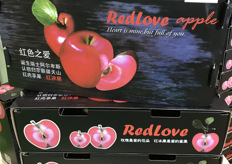 Special red hearted apple variety by Redlove Apple, grown in Gansu province.