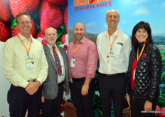 Paul Allen, president at Mainstreet Produce, a grower and shipper of strawberries, together with Mike of the Californian Strawberry Committee, Clay Wittmeyer of Naturipe and Chris Christian of the Californian Strawberry Committee.