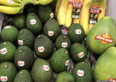 Avocados, bananas and guava all from the Philippines and marketed by Dole. Philippines trade officers are lobbying to receive market entry for the country's avocados. All it's guave are non-GMO, which is a marketing advantage in China as most of the domestic guave crop is GMO.