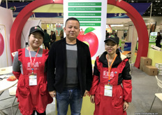 Wang Xiao Dong, export manager at MerryCall, a grower and packer of apples. The company is selling its fruits in China and has started exports to the USA.