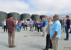 A group of primarily produce buyers learns more about berry production at Driscoll's.
