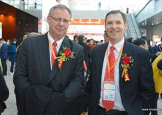 Piet Prinsloo of ZZ2 together with Clive Garrett. The company travelled to Beijing to promoted South African avocadoes.