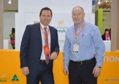 To the right, Jeff Scott, CEO at the Australian Table Grape Association.