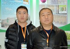 Yong Li and Mr Zhang of Tangshan Abundant South Area Innovate Vegetable Export Processing.