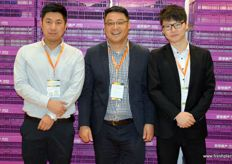 Tony Sun (in the middle) is the General Manager of ALSCO, a producer of plastic crates and logistic solutions for the fresh produce and automobile industry.