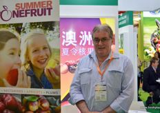 John Moore of Summerfruit Australia. The organisation has lobbied hard for market entry. This will be the first season stonefruit will be exported to China. The organisation will monitor and guide the process.