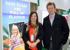Judith Damiani, CEO, and David Daniels, Citrus Market Access Manager, of Citrus Australia.