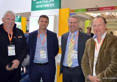 Patrick Ulloa of the Costa Group, Fabian Carniel, CEO at Mulgowie, Michael Nixon and Mark Kable of Harvest Moon. The latter three are present to support the export of Australian fresh vegetables into China.