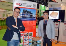 Jin Yu is the Asia Director of Spanish packaging company BOIX. To the right is Mason.