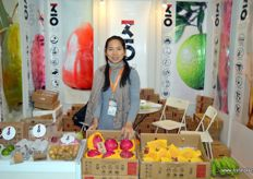 Nancy Su from Hainan, grower and exporter of tropical fruits from the province. The company also has an office in Shanghai.