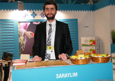 Board Member Emrah Ilica of Saraylim Tarim (Turkey), the company is currently busy with the apple season. Fuji, Granny Smith and Pink Lady are some of the varieties being offered.