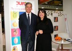 Delassus CEO Kacim Bennani-Smires with Sales & Marketing Director Fatiha Charrat of Delassus - Morocco; Delassus is not only known for their Clementine, Nour and Nadorcott but also making their names in the tomato industry where they invest a lot in R & D. Delassus is also now using the brand Clemengold for some of their customers.