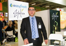 Sales Manager Sebri Oussama of EasyFresh (Tunisia); EasyFresh uses high technology and harvesting systems to provide early production of fruits and vegetables.