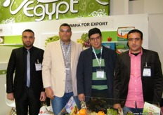 The men of ElWaha Export (Egypt), one of the few Egyptian companies that offer peaches for export.