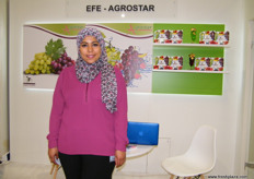 Esraa Harraz for Egyptian Fruit Export (Egypt), Agrostar has been exporting grapes since 2007.