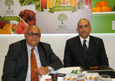 Chairman and CEO Khaled El-Haggan with CFO Ahmed Razek of EGO; EGO is composed of growers with farms from all over Egypt.