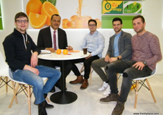 Khaled Mohamad, Export Manager, AGreen - Egypt with Simon Storz, CEO, Live Fresh - Germany(2nd from the right) and his team.