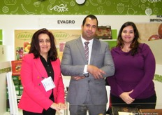 The Evagro team with Nevine Kara, Emad Eldin Ahmed with Ms. Hannah; Evagro is part of Armanious Group where one of their missions is to turn desert land into a productive farmland.