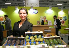 At the Greek and Fresh stand, a global supplier of fruits and vegetables from Greece.