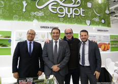 Sherif Attia (2nd - left), President, Green Egypt with colleagues at the stand; Sherif is one of the right guys to ask if you need info on green beans.