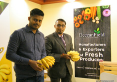 From the Deccan Field, India: Director Prashanth Gowda with Head of Marketing Jagdeep K. Koushik; introduced their Bengaluru Baby bananas this year.