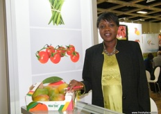Anna Seck of SEPAM S.A (Senegal); major products are greenbeans, cherry tomatoes and kent mangoes.