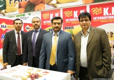 Mango and Kinnow exporters at the Pakistani pavilion, these gentlemen work together in promoting Pakistani fruits worldwide.