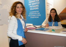 Emmanouela Zoumbalaki (l) with Rania Rached (r) for Indevco Paper and UnipakHellas - Greece.