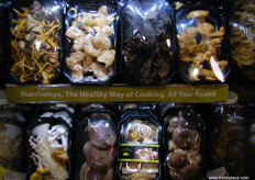 Products of Green Mushroom Farm; the company has two new branches in Germany which includes a mushroom farm.