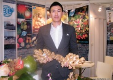 At the Asia Exotic (Thailand) stand, a subsidiary of Boonmee International Co. is now busy with the ginger season. Their gingers are GAP, GMP and HACCP certified.