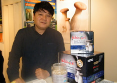 Say-Han Kim, Managing Director of Quali Korea (South Korea); one of the few companies that offer organic black mushroom oyster.