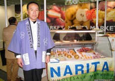 Representing Narita Wholesale Market, Japanese products being exported to Europe and the Middle East.