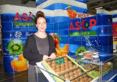 Ms. Marina for ASOP Episkopis; handling fresh fruit with more than 20,000 tons annually it includes peaches, nectarines, kiwi, cherries, pears, apples, plums and apricots.