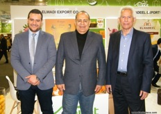 The men of El Wadi: Mohamed Elbialy, Elmoghazi Sahni and Mostafa Ads; Citrus is the main product of El Wadi, other products include onions, garlics, potatoes and many more.