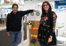 Sales Director Souad Zaari with Director Dr. Mourad Kamiri, both from Groupe Kabbage (Morocco); SKS has a wide range of varieties covering all consumer's needs with 2300 ha.