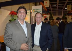 Visiting FreshPlaza's booth Robert Thomas and Jimmy Johnson with Premier Citrus Packers in Florida.
