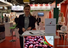 Hedvig Horvath from Cherry Farm, promoting Hungarian cherries.