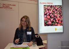 Alexandra Shtrkouska from Florafresh, supplying Macedonian apples, pears and cherries.