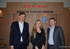 From left to right, Witold Gaj, Dorota Wojcik and Adam Sikorski from Polish packing company SoFruPak.