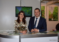 Maria Byalkova and Alanas Kunchev- Executive Director from the Bulgarian Greenhouse Growers' Association.