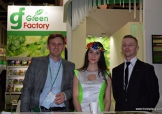 Hubert Bisialski from Green Factory, stand hostess Magda and Pawel Rudnicki from Primavega.
