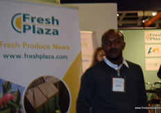 Amanuel Abraha from Raya Horti Farms in Ethiopia, visiting the Freshplaza stand.