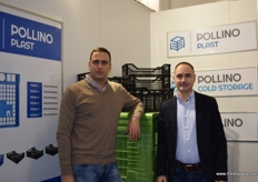 Nenad Sibinovic from apple producer Pollino Agrar and Branimir Ibrahimpasic from Pollino Plast, who offers crates, cold storage and systems.