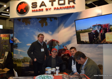 Pictured in the middle, from left to right, Slawomir Jeziomy and Tomasz Kaczmarek from Sator Machinery.