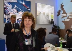 Milena Jerman from Port of Koper, visiting the TPG Logistics stand.